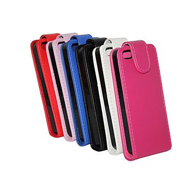 Voor iPhone 8 iPhone 8 Plus iPhone 5 hoesje Hoesje cover Flip Volledige behuizing hoesje Effen Kleur Hard PU-leer voor iPhone 7s Plus