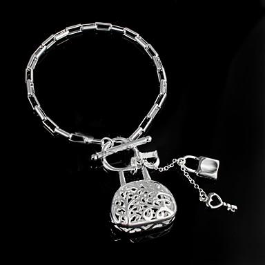 Dames Armbanden met ketting en sluiting Modieus Sterling zilver Zilver Sieraden Bruiloft Feest Dagelijks Causaal Kostuum juwelen