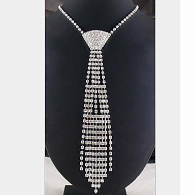 Mulheres Forma Borla Colares Declaração Imitações de Diamante Colares Declaração Jóias de fantasia