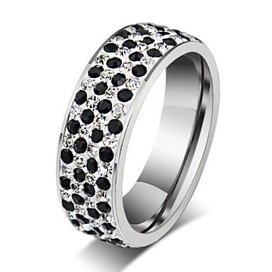 Anéis Grossos Aço Titânio Moda Prata Jóias Festa Diário Casual 1peça