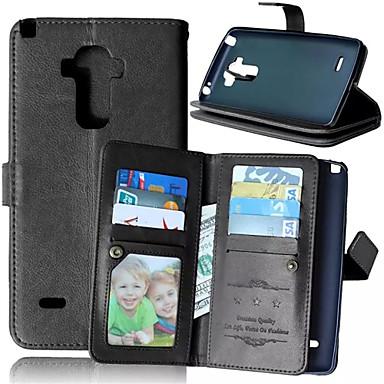 Voor LG hoesje Kaarthouder / Portemonnee / met standaard / Flip hoesje Volledige behuizing hoesje Effen kleur Hard PU-leer LG