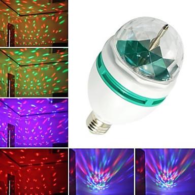 3W E26/E27 Lâmpada Redonda LED B 3 leds LED de Alta Potência Decorativa RGB 240-280lm RGBK AC 220-240 AC 110-130V