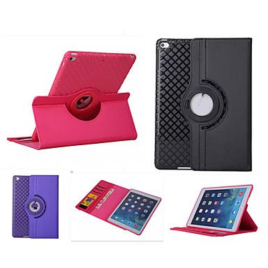 Capinha Para iPad Air Com Suporte Hibernação / Ligar Automático Origami Rotação 360° Capa Proteção Completa Côr Sólida PU Leather para