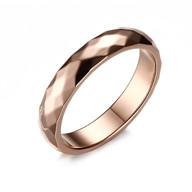 Heren Bandring Gouden Titanium Staal Modieus Bruiloft Feest Dagelijks Causaal Kostuum juwelen