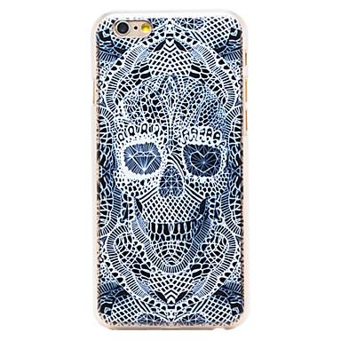 diamante padrão de esqueleto transparente pc Capa para iPhone 6 mais
