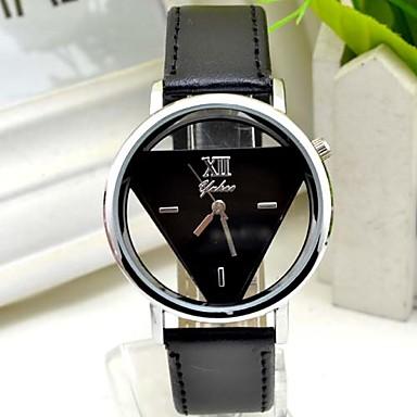 Homens Relógio de Moda Quartzo PU Banda Preta Branco