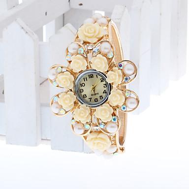 Mulheres Relógio de Moda Bracele Relógio Simulado Diamante Relógio Digital imitação de diamante Lega Banda Elegantes Amarelo