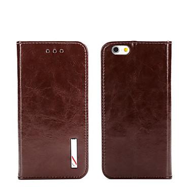 Voor iPhone 8 iPhone 8 Plus iPhone 5 hoesje Hoesje cover Portemonnee Kaarthouder met standaard Flip Volledige behuizing hoesje Effen Kleur