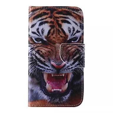 Case Kompatibilitás Samsung Galaxy Samsung Galaxy tok Pénztárca / Kártyatartó / Állvánnyal Héjtok Állat PU bőr mert J5
