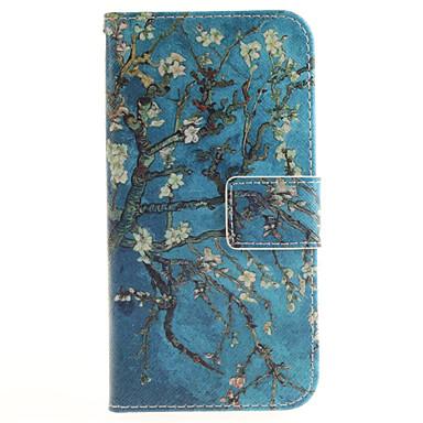 Capinha Para Samsung Galaxy Samsung Galaxy Capinhas Porta-Cartão Carteira Com Suporte Flip Estampada Capa Proteção Completa Flor PU