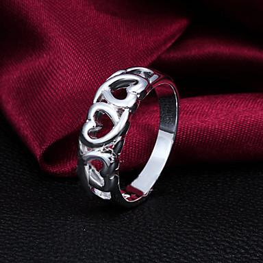 Ανδρικά Γυναικεία Βέρες Καρδιά Ασήμι Στερλίνας Επάργυρο Κοσμήματα Για Γάμου Πάρτι Καθημερινά Causal