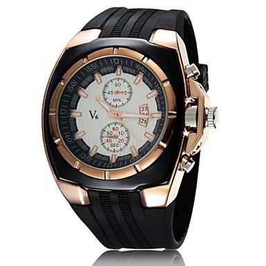 levne Pánské-V6 Pánské Vojenské hodinky Náramkové hodinky Navy Seal Watch Křemenný Japonské Quartz Pryž Černá Hodinky na běžné nošení Analogové Přívěšky - Bílá Černá Dva roky Životnost baterie / Mitsubishi LR626