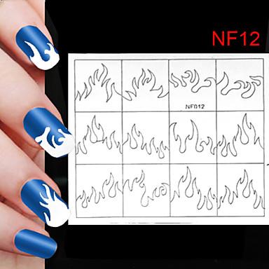 120pcs verschillende maten professionele maken patroon nail art gereedschap