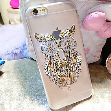 Capinha Para Apple iPhone 6 iPhone 6 Plus Transparente Estampada Capa traseira Corujas Macia TPU para iPhone 6s Plus iPhone 6s iPhone 6