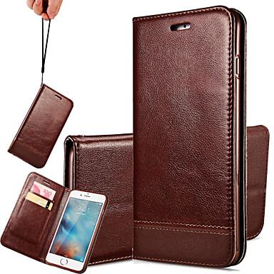 iphone 7 plus emenda cordão caso de telefone de couro genuíno multicolor para iPhone 6 Plus / 6s plus