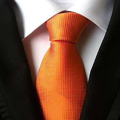 Men's Party / Work / Basic Necktie - Solid Colored