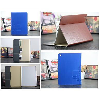 luxe raster lederen tas kaarthouder staan Smart Cover beschermende boek gevallen voor iPad 4/3/2 (assorti kleur)