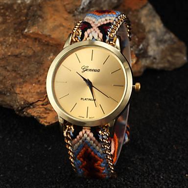 Damen Armbanduhr Schlussverkauf Stoff Band Böhmische / Modisch Mehrfarbig