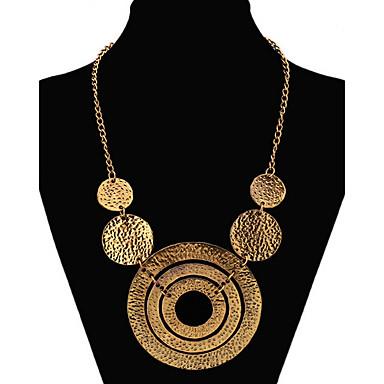 billige Mode Halskæde-Dame Erklæring Halskæder lang halskæde Erklæring Damer Europæisk Mode Guld Skærmfarve Halskæder Smykker Til