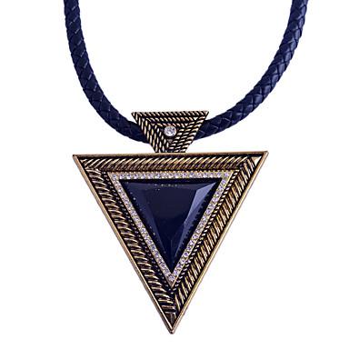 Γυναικεία Triunghi Geometric Shape Σχήμα Πανκ Κρεμαστά Κολιέ Πετράδι Φυσικό Μαύρο Συνθετικό ζαφείρι Συνθετικοί πολύτιμοι λίθοι Ρητίνη