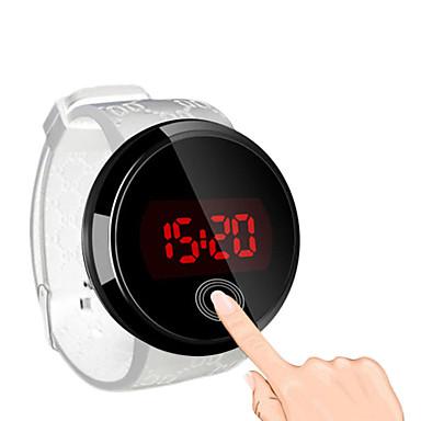 levne Pánské-Pánské Náramkové hodinky Digitální hodinky Digitální Silikon Černá Voděodolné Dotykový displej kreativita Digitální Černá Černá / Bílá Bílá / Stříbrná Dva roky Životnost baterie / LED