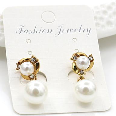 Kolczyki wiszące Pearl imitacja Imitacja pereł Stop Gold Biżuteria Na Ślub Impreza Codzienny Casual 1 para