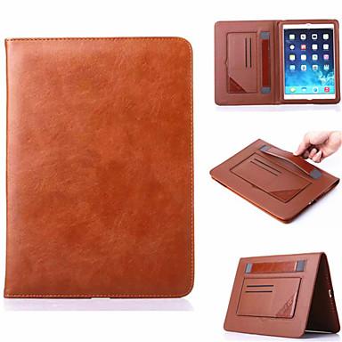 hoesje Voor iPad Air Kaarthouder met standaard Automatisch aan / uit Volledig hoesje Effen Kleur aitoa nahkaa voor iPad Air