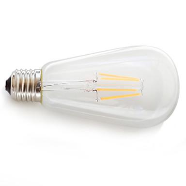 Недорогие Светодиодные электролампы-KAKANUO 1шт LED лампы накаливания 360 lm E26 / E27 4 Светодиодные бусины COB Декоративная Тёплый белый 85-265 V / 1 шт. / RoHs / Сертификат UL / ETL / ERP