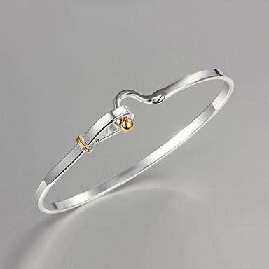 Dames Bangles Sterling zilver Zilver Sieraden Kerstcadeaus Bruiloft Feest Dagelijks Causaal Kostuum juwelen