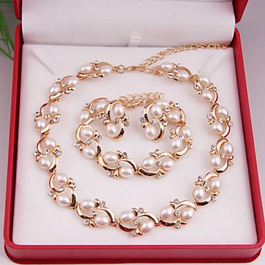 Dames Imitatie Parel Sieraden set omvatten Oorbellen Kettingen Armbanden - Legering Voor Bruiloft Feest Speciale gelegenheden  Vuosipäivä