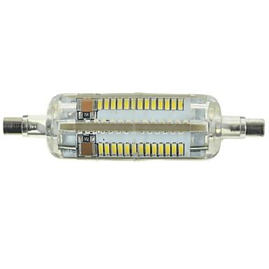R7S LED-maïslampen Verzonken ombouw 104 LEDs SMD 3014 Decoratief Koel wit 600-700lm 6000-6500K AC 220-240V
