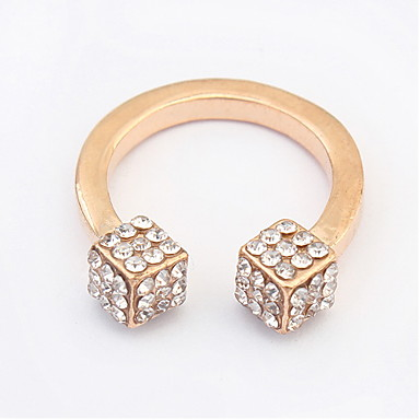 זול טבעות-טבעות מידי קריסטל סגסוגת כסף מוזהב תכשיטים ל חתונה Party יומי קזו'אל 1pc