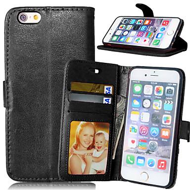 케이스 제품 Apple iPhone X iPhone 8 iPhone 6 iPhone 6 Plus iPhone 7 Plus iPhone 7 카드 홀더 지갑 스탠드 전체 바디 케이스 한 색상 하드 PU 가죽 용 iPhone X iPhone 8
