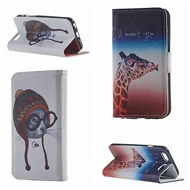 speciaal ontworpen dubbelzijdige gekleurde tekening of patroon pu lederen flip case voor de iPhone 6 / 6s