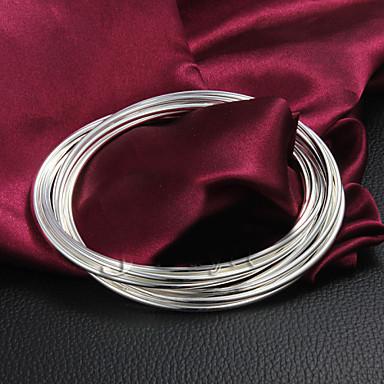 Dames Bangles Sterling zilver Zilver Sieraden Voor Bruiloft Feest Dagelijks Causaal 1 stuks