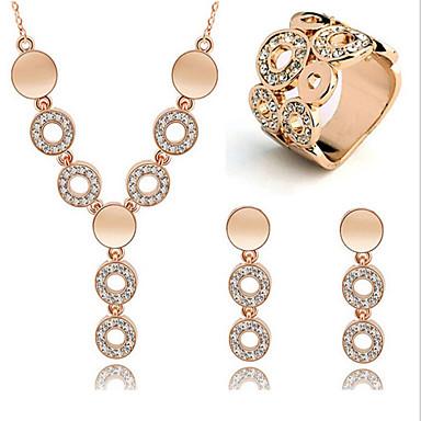 Dames Sieraden Set Ring oorbellen Kristal Vintage Feest Werk Birthstones Geboortestenen Modieus Feest Speciale gelegenheden  Verjaardag