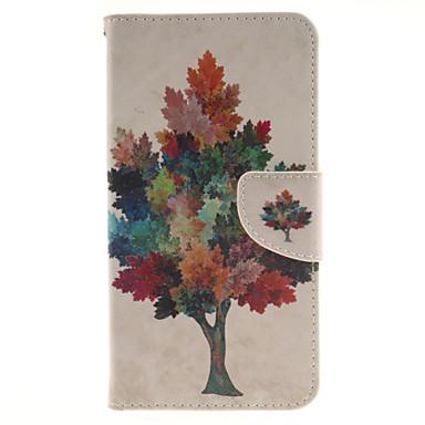 Capinha Para LG Capinha LG Porta-Cartão Carteira Com Suporte Flip Capa Proteção Completa Árvore Rígida PU Leather para