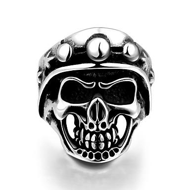 Δαχτυλίδι Ανοξείδωτο Ατσάλι Skull shape Κλασσικά Πανκ Στυλ Ασημί Κοσμήματα Halloween Καθημερινά Causal Αθλητικά 1pc