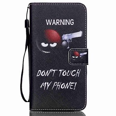 Недорогие Чехлы и кейсы для Galaxy S4 Mini-Кейс для Назначение SSamsung Galaxy S6 edge plus / S6 edge / S6 Кошелек / Бумажник для карт / со стендом Чехол Слова / выражения Кожа PU