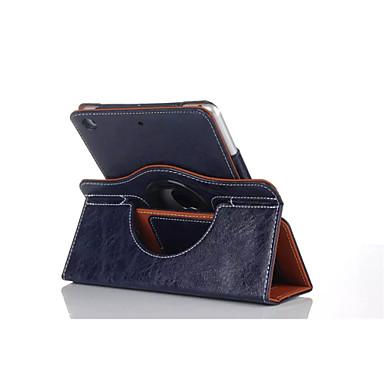 hoesje Voor iPad Air met standaard Automatisch aan / uit Origami 360° rotatie Volledig hoesje Effen Kleur PU-nahka voor iPad Air