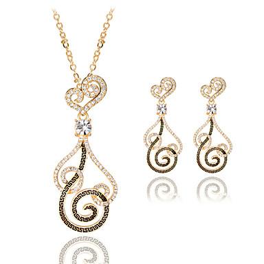 Κοσμήματα 1 Κολιέ / 1 Ζευγάρι σκουλαρίκια Γάμου / Πάρτι / Καθημερινά / Causal 1set Γυναικεία Χρυσαφί Δώρα Γάμου