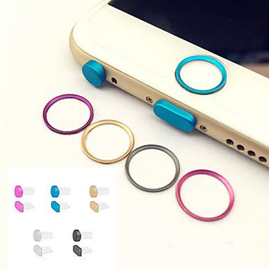 ieftine Decorațiuni Mobil-cerc de metal buton de start capac protector inel + jack pentru căști&portul de încărcare priza anti-praf stabilite pentru iPhone 6 /