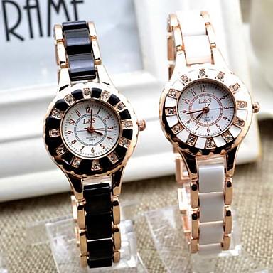 Dames Modieus horloge Kwarts Band Wit Zwart