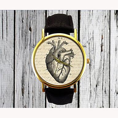 Mulheres Relógio de Moda Quartzo Venda imperdível PU Banda Heart Shape