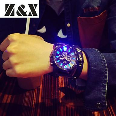 Masculino Relógio Esportivo Quartzo Silicone Banda Preta Branco Preto Vermelho Verde Azul