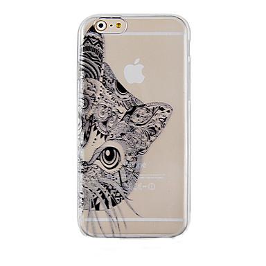 de zwarte kat patroon transparante telefoon zaak terug Cover Case voor iPhone 6s 6 plus