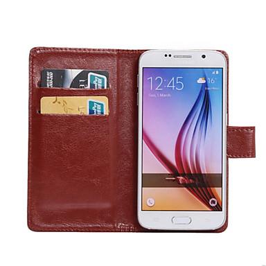 Capinha Para Samsung Galaxy Samsung Galaxy Capinhas Porta-Cartão Com Suporte Flip Rotação 360° Capa Proteção Completa Côr Sólida PU
