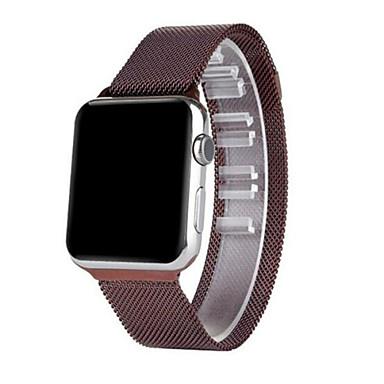 Pulseiras de Relógio para Apple Watch Series 3 / 2 / 1 Apple Pulseira Estilo Milanês Aço Inoxidável Tira de Pulso