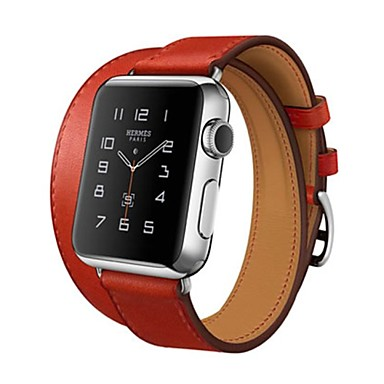 Horlogeband voor Apple Watch Series 3 / 2 / 1 Apple Klassieke gesp Echt leer Polsband