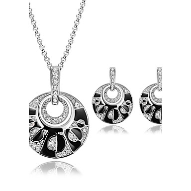 Damskie Zestawy biżuterii Syntetyczny Rubin Rhinestone Luksusowy Ślub Impreza Stop 1 parę kolczyków Naszyjniki